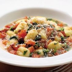 Gnocchi with Tomatoes, Pancetta, & Wilted Watercress ... I use spinach because I can't usually find watercress, but this is awesome.  The sauce is so flavorful and would go great with any pasta.