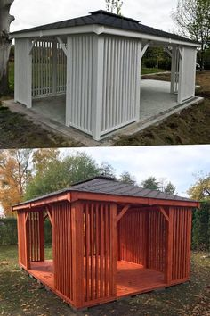 Wooden Summer House, Carports, Pallet Furniture, Shed, Outdoor Structures, Beide, Garden Arbor, Architecture, Don't Care