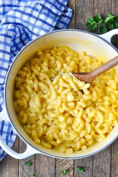 There's nothing better than a deliciously creamy bowl of homemade mac and cheese. This recipe is one of our all-time favorites! It is also super easy and fast to make. Forget the oven. This dish can be made entirely on the stovetop in under 20 minutes! How's that for a quick weekday meal? This would also be a perfect side for a larger meal. If you were charged with making the mac and cheese for your next dinner party, you have to check out this recipe. It's one that just can't fail.