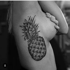 By @swamontattoo #pinapple #pinappletattoo #tattooinkarnation #blackwork #tattoo #tatuering
