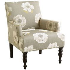 Liliana Armchair - Floral Ivory