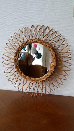 Un très joli miroir soleil en rotin, Mon Petit Mueble