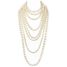 Fabulous CHANEL Multi Strand Necklace ❤ liked on Polyvore featuring jewelry, necklaces, accessories, chanel, pearls, white pearl necklace, multiple strand pearl necklace, multi-chain necklaces, chanel jewelry and pearl jewelry