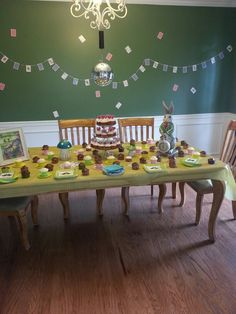 Alice in wonderland cupcake tea party theme