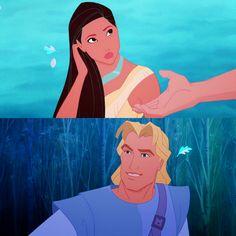 Pocahontas and John Smith ~ Love this movie!