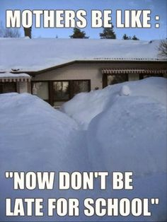 Hahaha this was always so true. Few times we had to crawl out a window as the front door was snowed in:-)