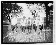 Girls playing soccer, circa 1918.  Library of Congress, Prints and Photographs Division, LC-F8-5192 (between 1918 and 1920).