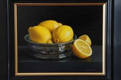 Still Life with Lemons in Silver Wine Coaster
