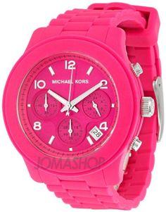 Michael Kors hot pink watch