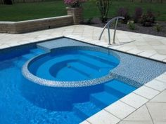 Caesars Palace 16 X34 Fibergl Pool Spa Combination From San Juan Pools