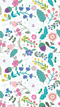 Spring pattern ★ Download more floral #Spring iPhone Wallpapers at /prettywallpaper/