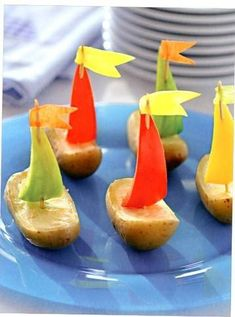 Potato, pepper, cheese boats
