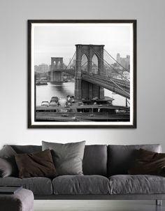 Tablou Framed Art Old Brooklyn Bridge Brooklyn Bridge, Framed Art, Interior Design, Abstract, Modern, Poster, Painting, Vintage, Home Decor