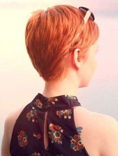 Copper Pixie Cut Side