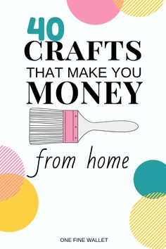 Here are over 40 beautiful DIY crafts to sell for stay at home moms. These are easy crafts that make money to help you start a craft business from home. Ready to check out some ideas for crafts that sell well? home diy crafts Diy Money Making Crafts, Easy Crafts To Make, Diy Projects To Sell, Craft Making, Craft Ideas To Sell Handmade, Crafts That Sell, Simple Crafts, Easy Craft Projects, Hobbies And Crafts
