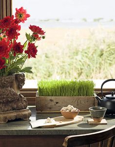 A spot of tea?  Zen Kitchen - How to Make Your Kitchen Zen - House Beautiful
