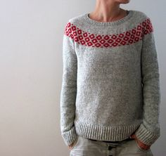 Knitting instructions bubbly sweater by Isabell Kraemer – Sweater Knitting Patterns, Knitting Designs, Knit Patterns, Fair Isle Knitting, Free Knitting, Lana, Knitwear, Knit Crochet, Creations