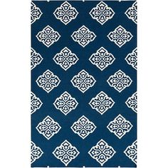 Shop Surya Frontier Mediterranean Blue Rug - 5' x 8' 7101924, read customer reviews and more at HSN.com.