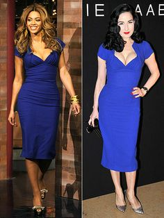 Who wore it better? Dita or Beyonce?