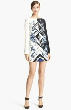 Emilio Pucci 'Jazz' Print Silk Tunic Dress available at #Nordstrom