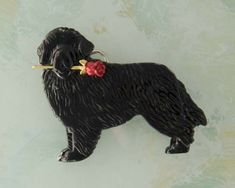 To satisfy your desire for excellence, we are offering these beautiful, high quality pin and pendant designs that celebrate the lives of the Newfoundland dog. Each piece is individually handmade. This