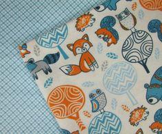 Baby Blanket Handmade Cute Forest Animals Print Print Blanket Baby Shower Gift Stroller Blanket