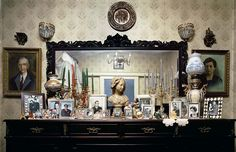 Old world Athenian homes // reception areas // lace doilies // personal treasures