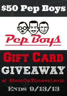Techron Fuel System Cleaner and $50 Pep Boys Gift Card Giveaway! - Mom On Timeout