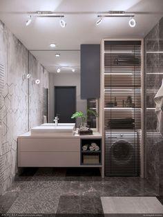 A Style & Draw enteriőr tervezési pályázat II. Minimalist Bathroom Design, Bathroom Design Luxury, Bathroom Layout, Modern Bathroom Design, Bathroom Designs, Home Room Design, Laundry Room Design, House Design, Apartment Bathroom Design