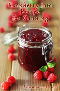 Homemade Raspberry Jam Recipe for Canning {type a parent} http://#jam http://#canning http://#raspberry