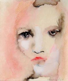 "Saatchi Art Artist Lisa Krannichfeld ; Painting, ""Small Face No. 11"" #art"