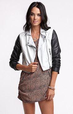 Bullhead Black Denim Faux Leather Moto Jacket, Pac Sun, $59.50 Jackets Buy 1 Get 1 50% Off