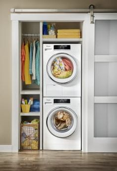 Whirlpool WPWADRE702 Stacked Washer & Dryer Set with Front Load Washer and Electric Dryer in White