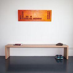 Bankje passend bij eettafel #signature #design #furniture #custom #handmade #meubels #handgemaakt #opmaat #maatwerk #opmaatgemaakt #eigenontwerp #bankje #bank www.panettiere.nl