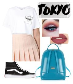 """""""Tokyo Summer"""" by djjazzy14 on Polyvore featuring Smashbox, Furla, American Apparel, Casetify, Moschino, Vans, travel, ootd and tokyo"""