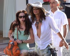 Steven Tyler Girlfriend | Who's that girl: Steven Tyler cosies up to a mystery companion during ...