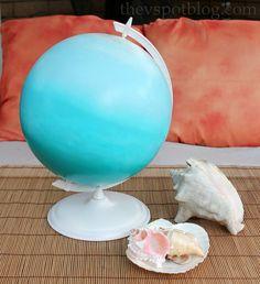 The V Spot: An easy ombre globe. Cute tutorial!