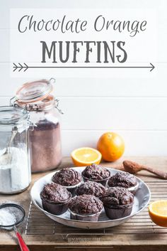 These Chocolate Orange Muffins are a real treat in a lunch box, or make a great after school treat. They also freeze really well for those extra busy days. #hedgecomber #muffins #chocolateorange