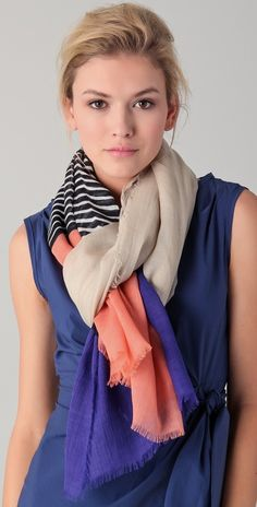 DVF Linescape scarf