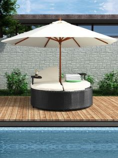 Idea for old gas grill diy ideas pinterest dads for Outdoor pool daybeds