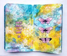 Art Journal Pages, Art Journals, Art Journal Inspiration, Journal Ideas, Image Stamp, Creative Journal, Rose Art, Fun Challenges, Dance Art