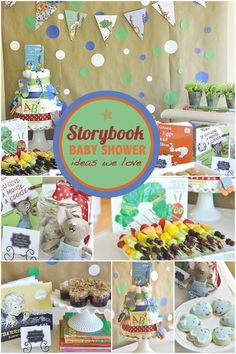 Storybook Baby Shower Ideas for Boys