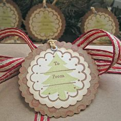 Christmas Gift Tags Rustic Red by SunshineandRavioli2 on Etsy