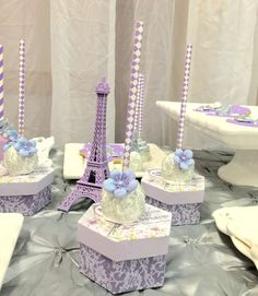 Gorgeous cake pops at a Paris Quinceañera birthday party! See more party planning ideas at CatchMyParty.com!