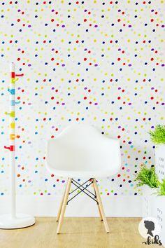Multicolor Dots Wall Mural L008 by LivettesKIDS on Etsy