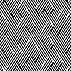 motif en zigzag avec ligne noir et blanc — Illustration #11044466