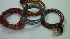 How to make the popular beaded leather wrap around bracelets!