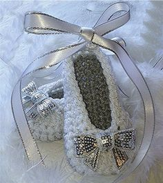 White and Silver Crochet Baby Girl ❤ by TippyToesBabyDesigns on Etsy, $25.00
