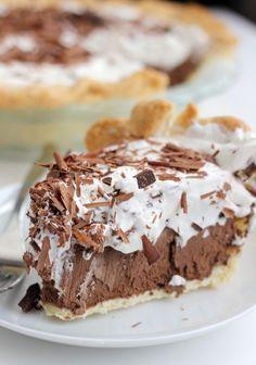 Chocolate French Silk Pie Recipe, Chocolate Pie Recipes, Chocolate Pies, Chocolate Shavings, Chocolate Filling, Silk Chocolate, Chocolate Pudding, The Help Chocolate Pie Recipe, Chocolate Mousse Pie