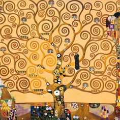 Gustav Klimt Tree Of Life Comforters by Restored Art And History - Queen: 88 Gustav Klimt, Duomo Milano, Famous Art Pieces, Tree Of Life Art, High Art, Oeuvre D'art, Painting Inspiration, Les Oeuvres, Art Lessons